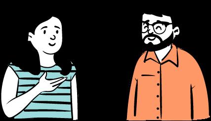 två personer jobbintervju kandidat illustration