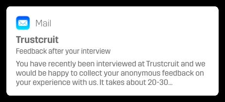 e-postavisering trustcruit feedback e-post