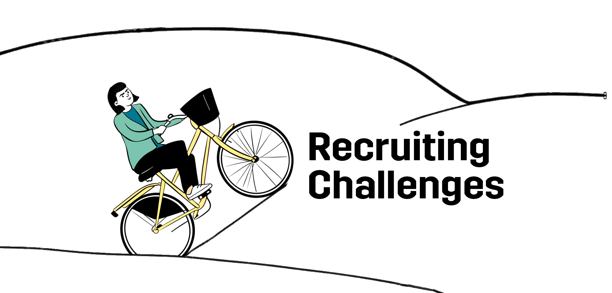 recruiting-challenges-illustration-woman-cycling-upphill