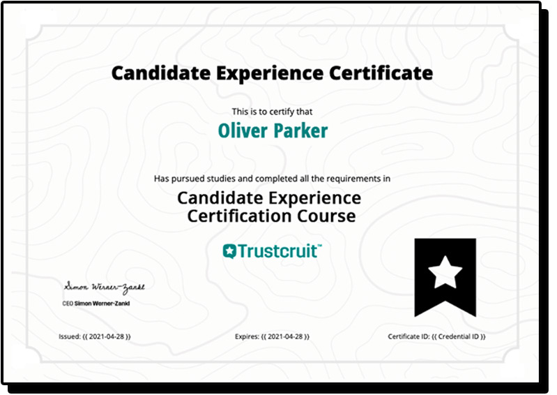 Candidate Experience Certificate Example